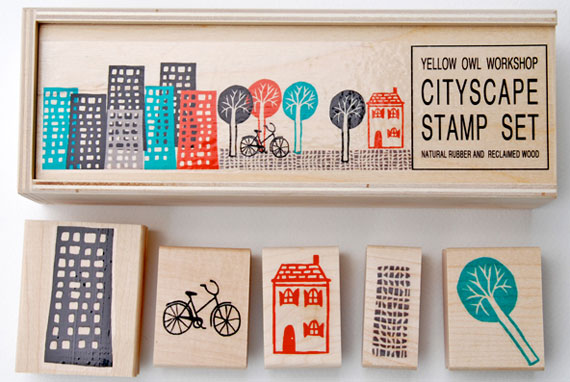 Yellow Owl Workshop City Scape Stamps