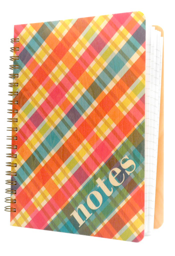Bright Madras Notebook