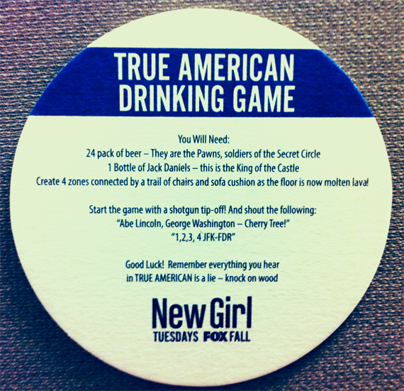 True American Drinking Game Coaster