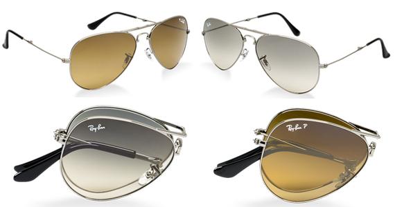 ray ban sunglasses folding aviator  for
