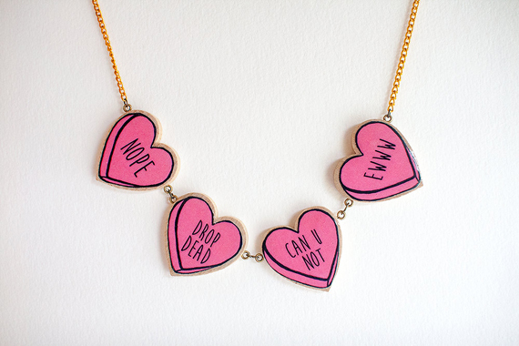 Bitter Sweet Candy Heart Necklace