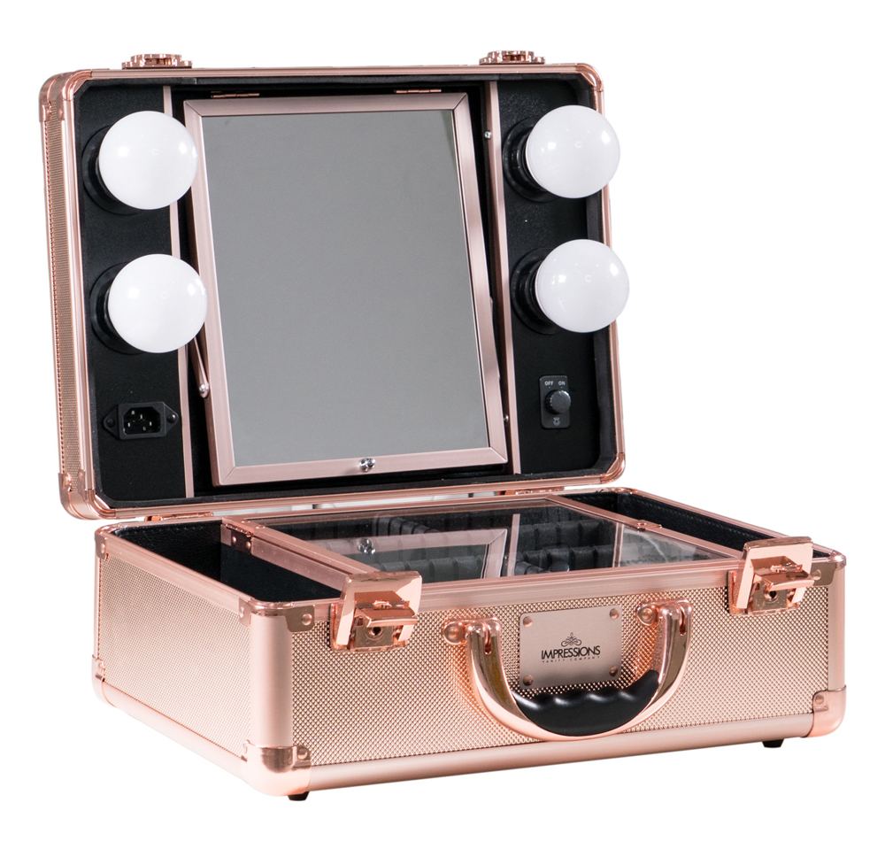 Rose Gold Vanity Makeup Case by Salycase