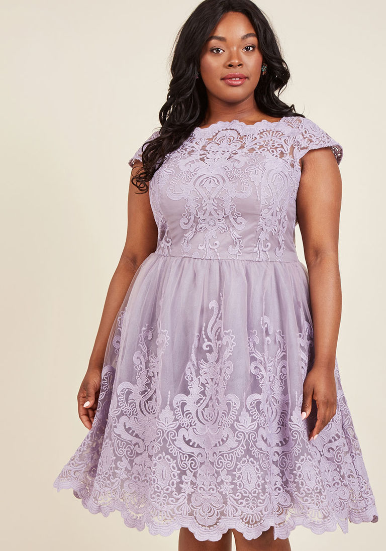 Chi Chi London Lavender Holiday Party Dress