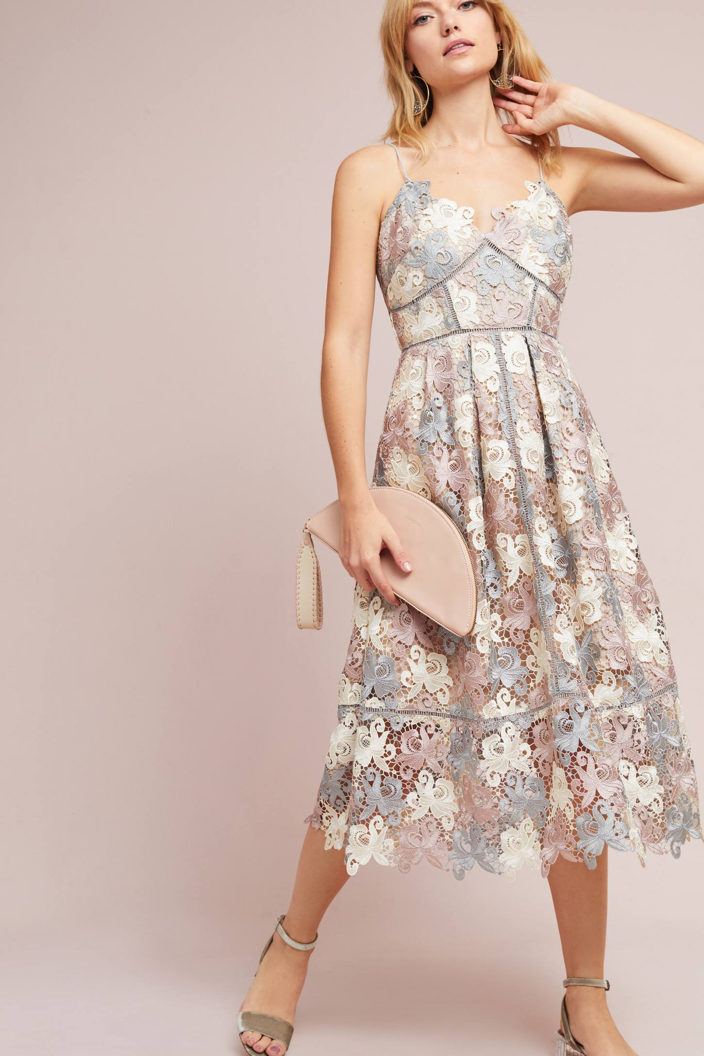 Holiday Party Pastel Lace Dress
